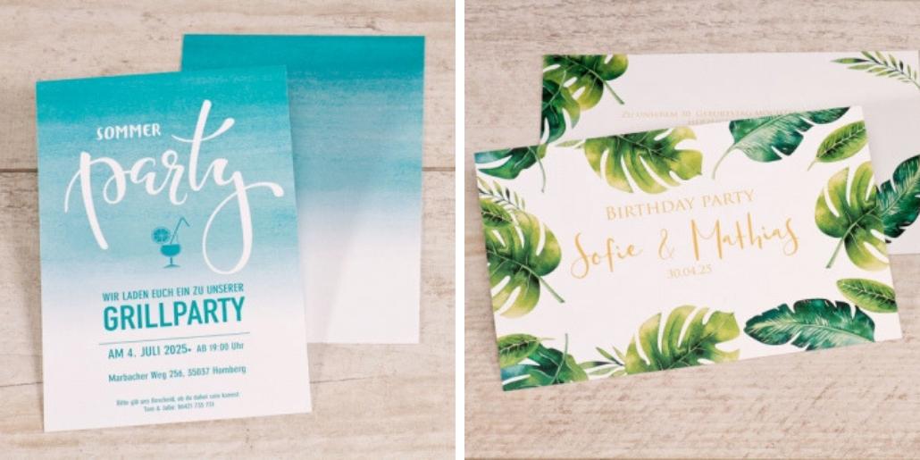 Boho Einladungskarten