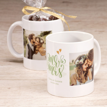 Bedruckte Tasse Mr. & Mrs.