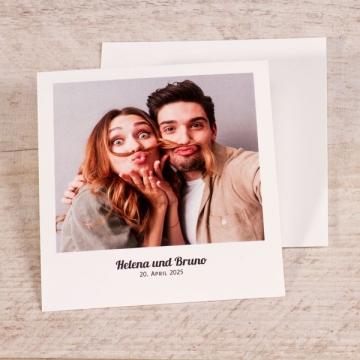 Dankeskarte mit Polaroid Foto