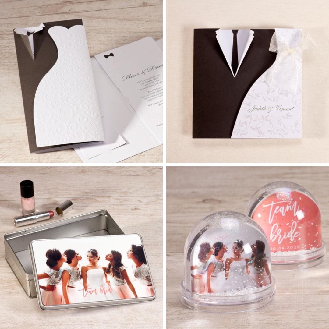 Hochzeitseinladungen und Geschenke