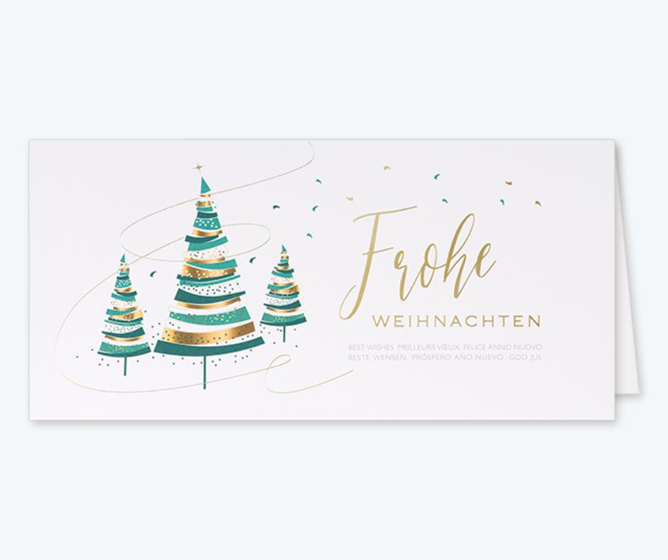 Firmen Weihnachtskarte mit Folienprägung