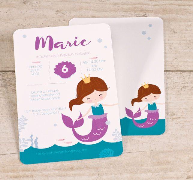 Einladung Meerjungfrau
