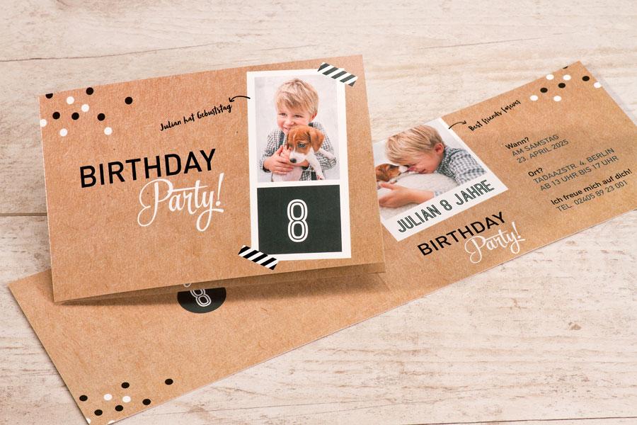 Einladungskarten zur Kindergeburtstag